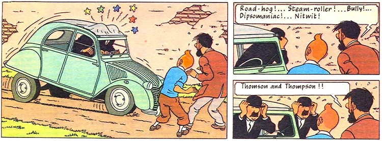 Tintin © Editions Casterman and Methuen, 1956